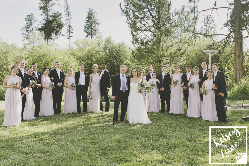 Rustic Montana Wedding_Soft Montana Wedding_Montana Wedding Photographer_Missoula Wedding Photographer_Grey Wolf Ranch_Kelsey Lane Photography_wedding party