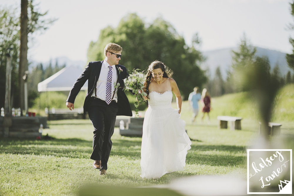 Rustic Montana Wedding_Soft Montana Wedding_Montana Wedding Photographer_Missoula Wedding Photographer_Grey Wolf Ranch_Kelsey Lane Photography_bride and groom entrance
