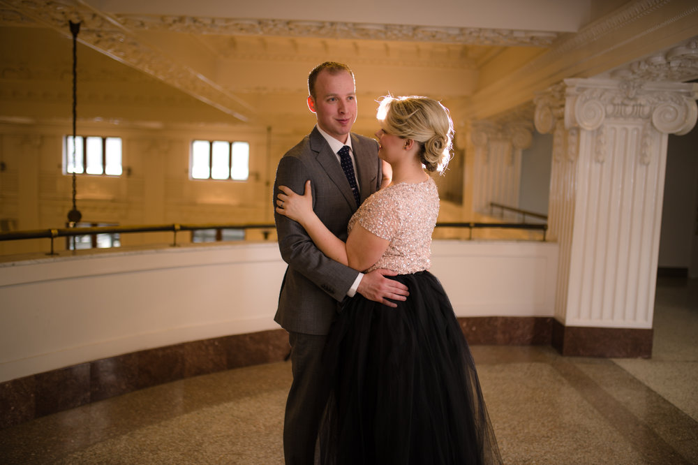 Ballroom Engagement_Urban Engagement_Tulle Skirt Engagement_Montana Wedding Photographer_Kelsey Lane Photography_Dancing engagement