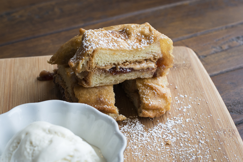 Deep Fried Peanut Butter & Jam Butty