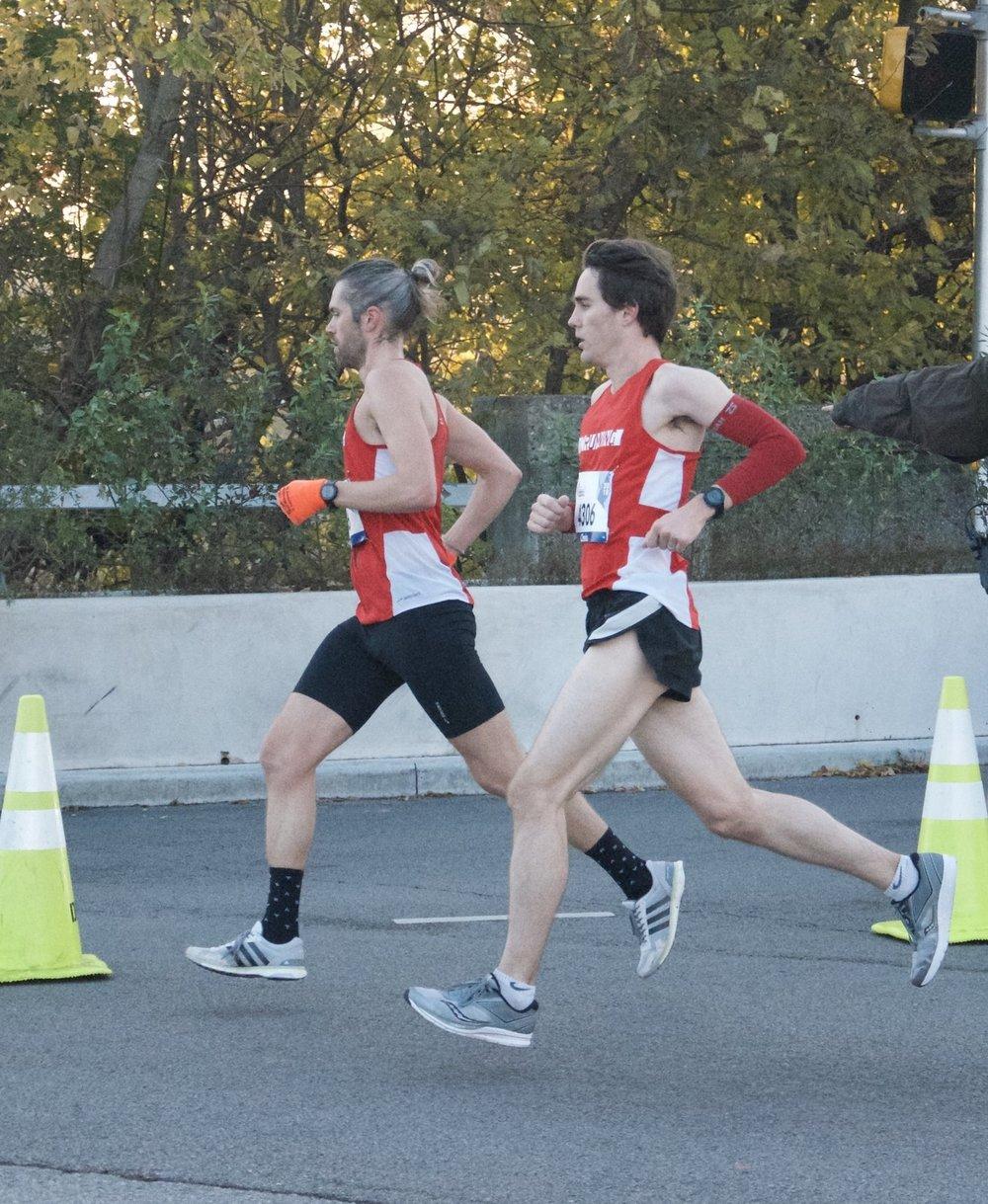 Caleb Kadera & Chris McGarry Indy Marathon 2018 DWRunning