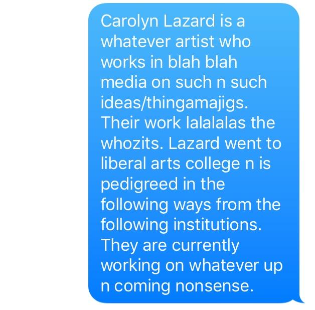 Carolyn Lazard, b.1987