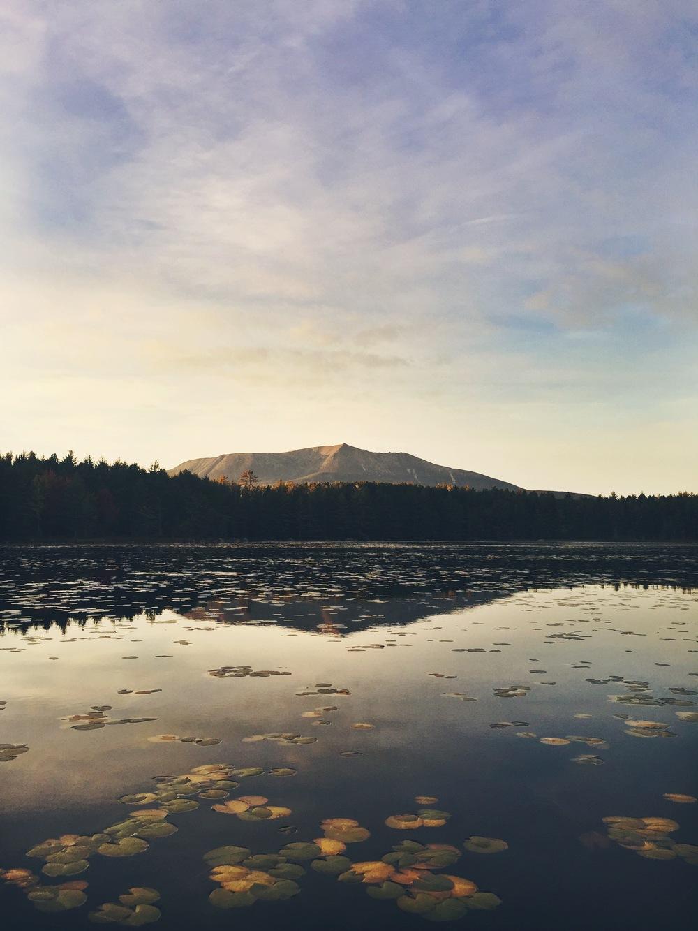 Evening view of Katahdin from Pockwockamus Pond