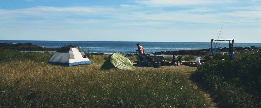 The Clam Cove camp site.