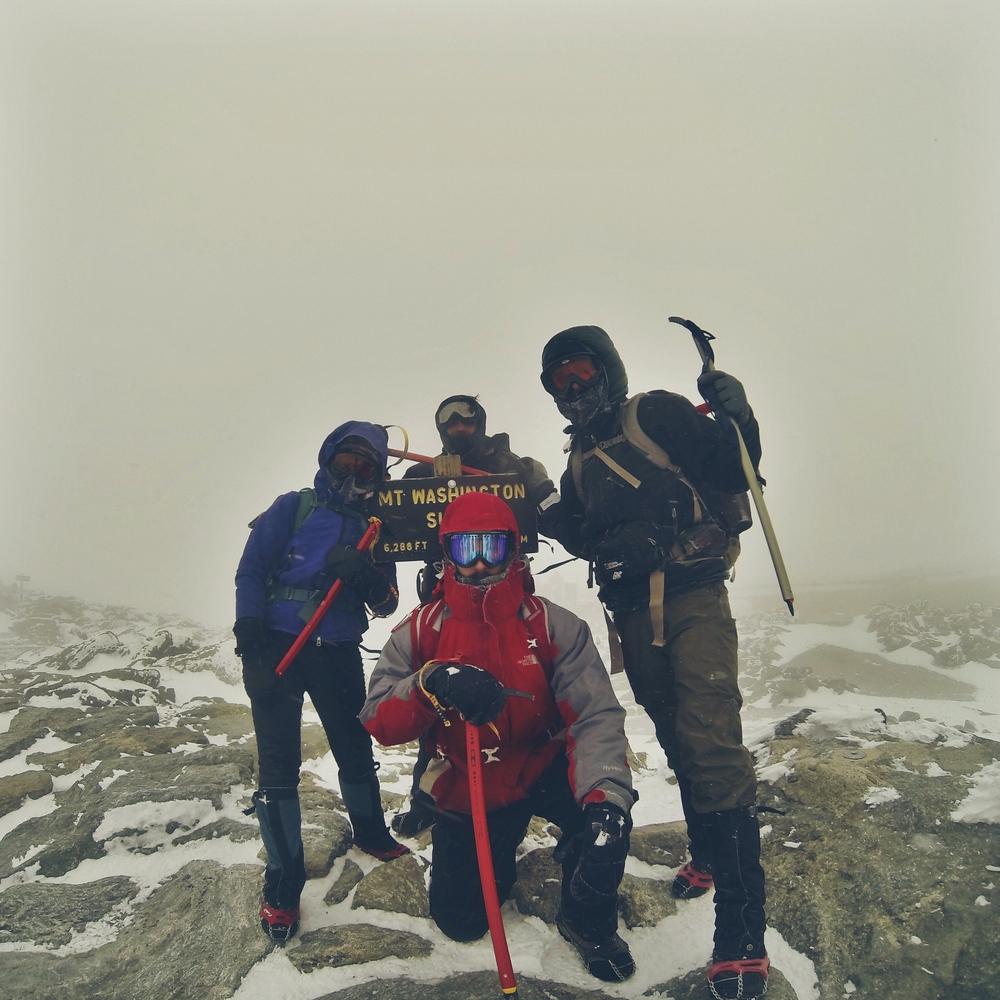 The gang on the top of Mt. Washington.