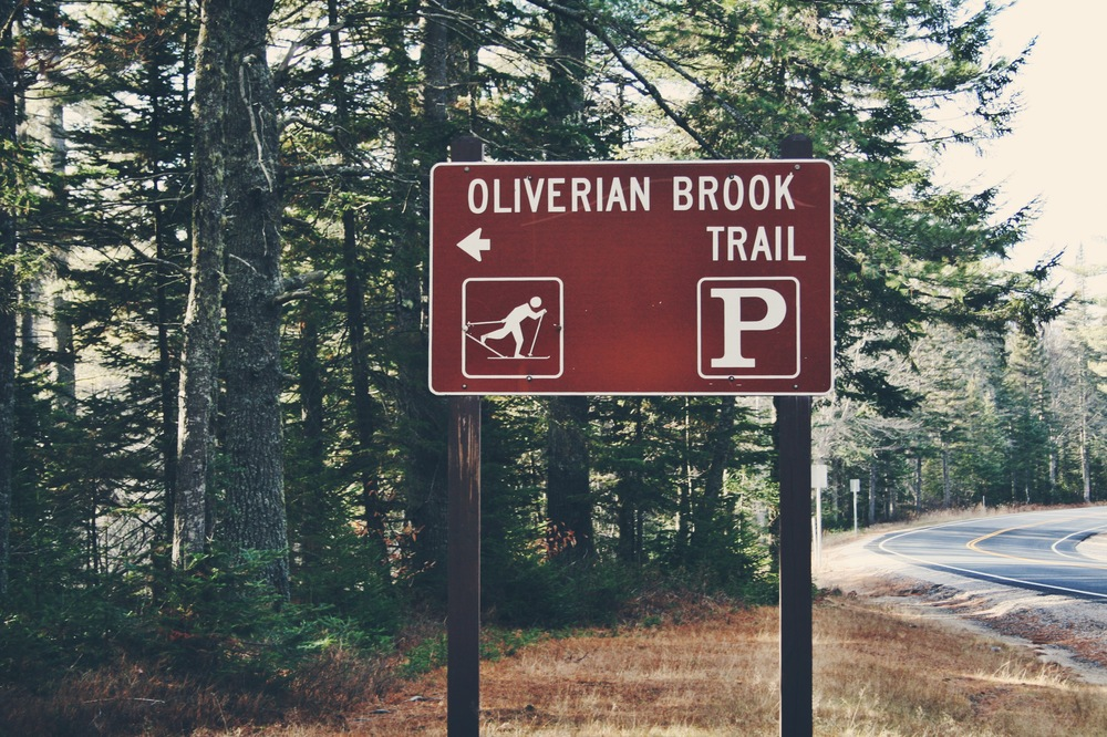 Oliverian Brook Trailhead, the kickoff point of the trip