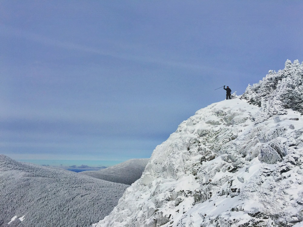 Teton makes his way around the summit knob.