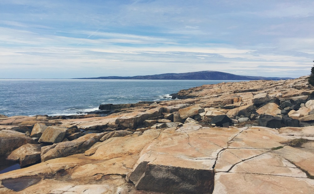 View of Cadillac Mountain from Schoodic Peninsula