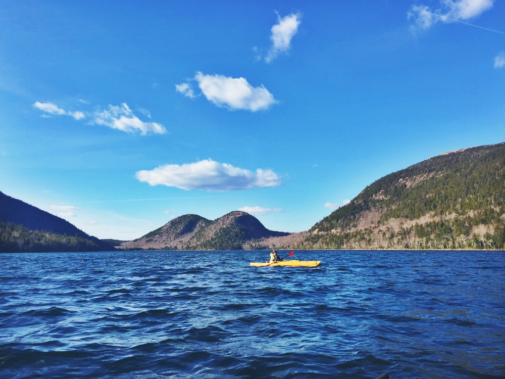 Small and easy to navigate, Jordan Pond is a great place for a casual paddle.