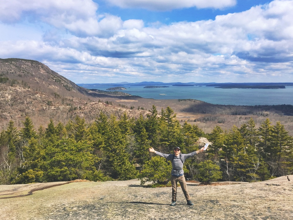 Wide open views from the granite slopes of Mount Desert Island's mountains.
