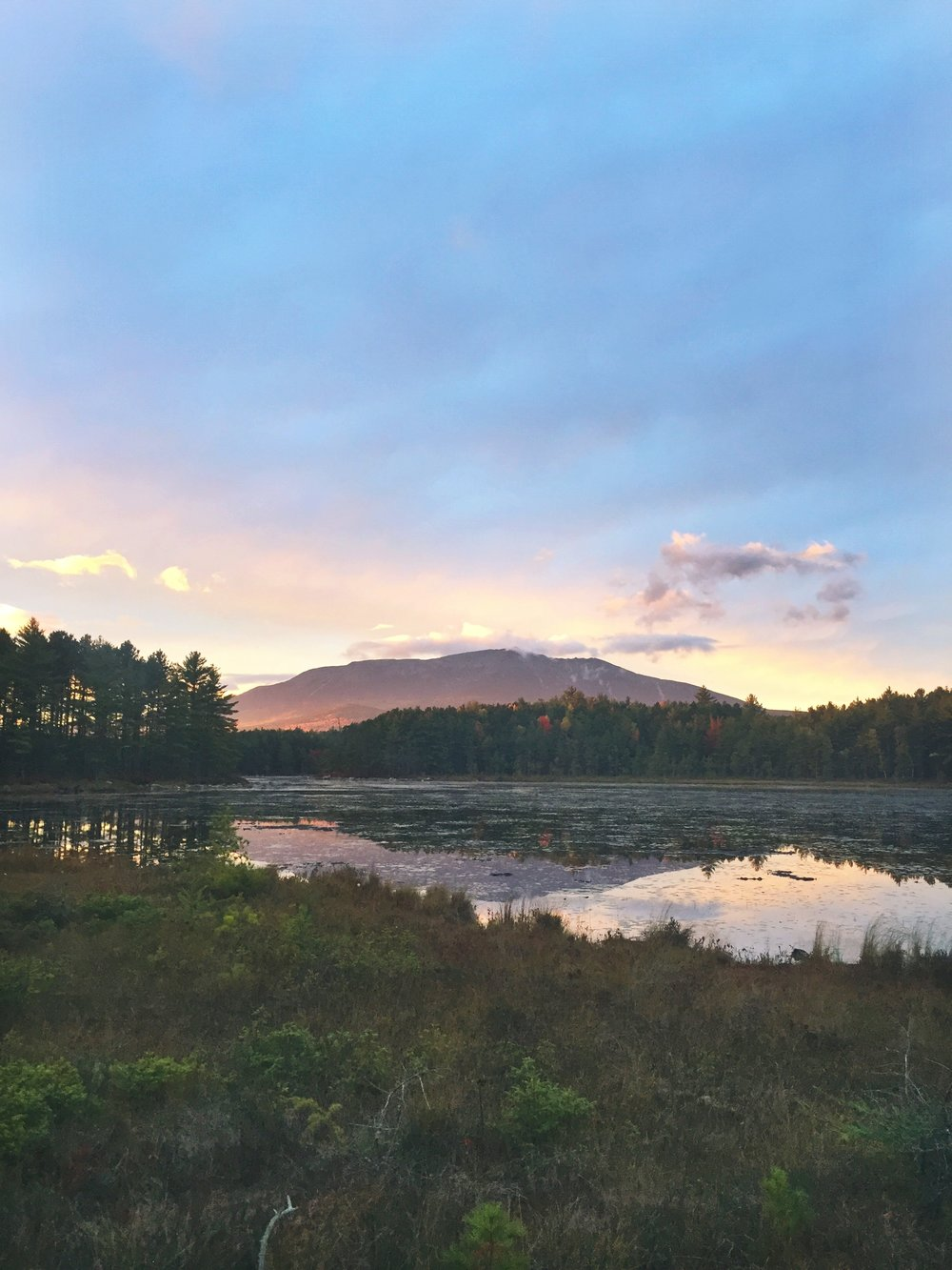 Gorgeous sunset behind Katahdin