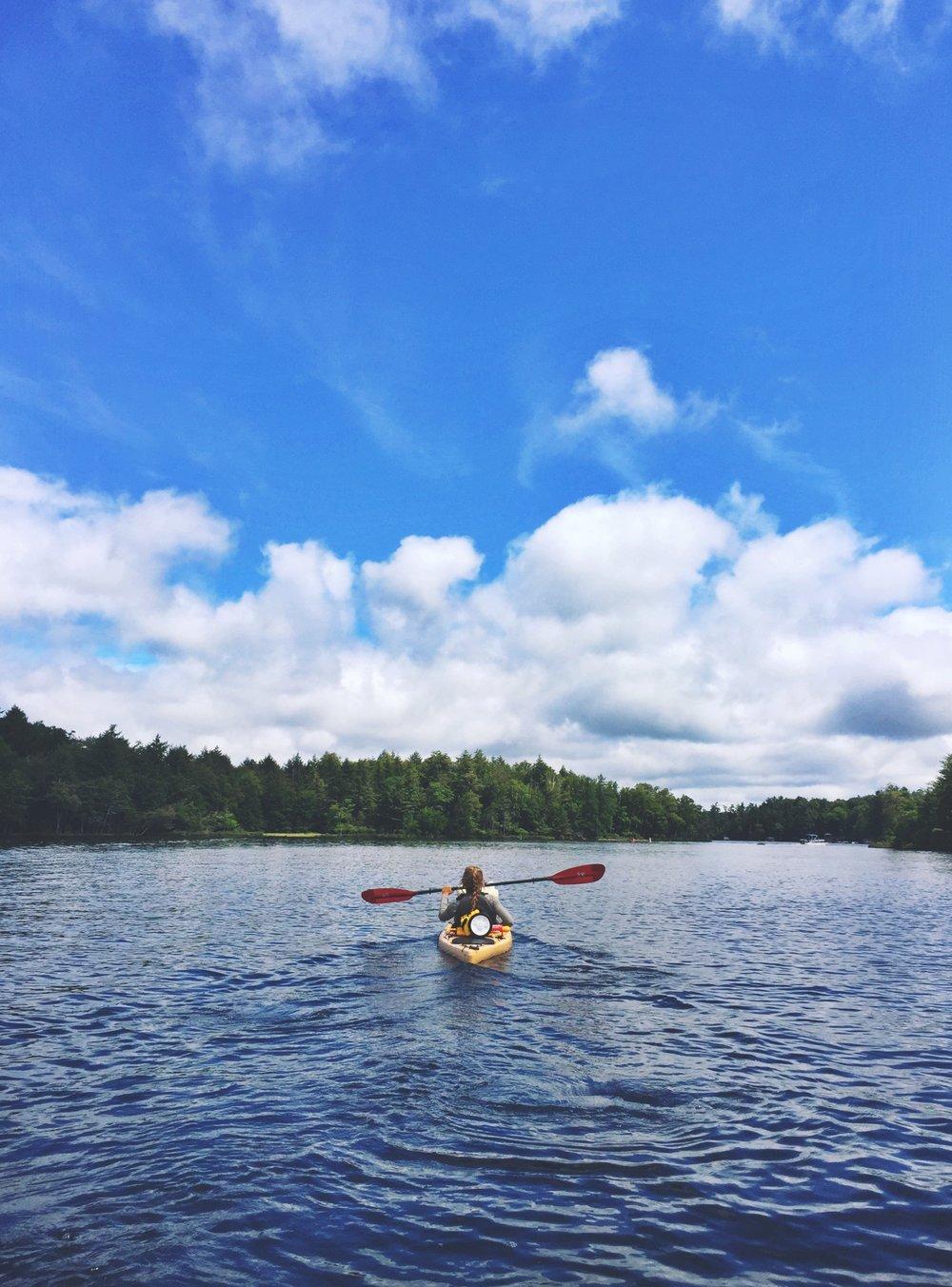 Peaceful paddling on Third Lake