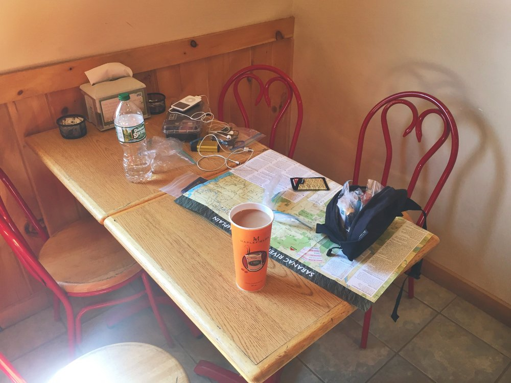 At this table I found refuge from my problems, I recharged and refocused before continuing onward for the day.
