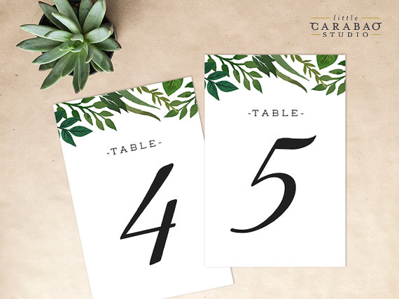 littlecarabaostudio Table Numbers