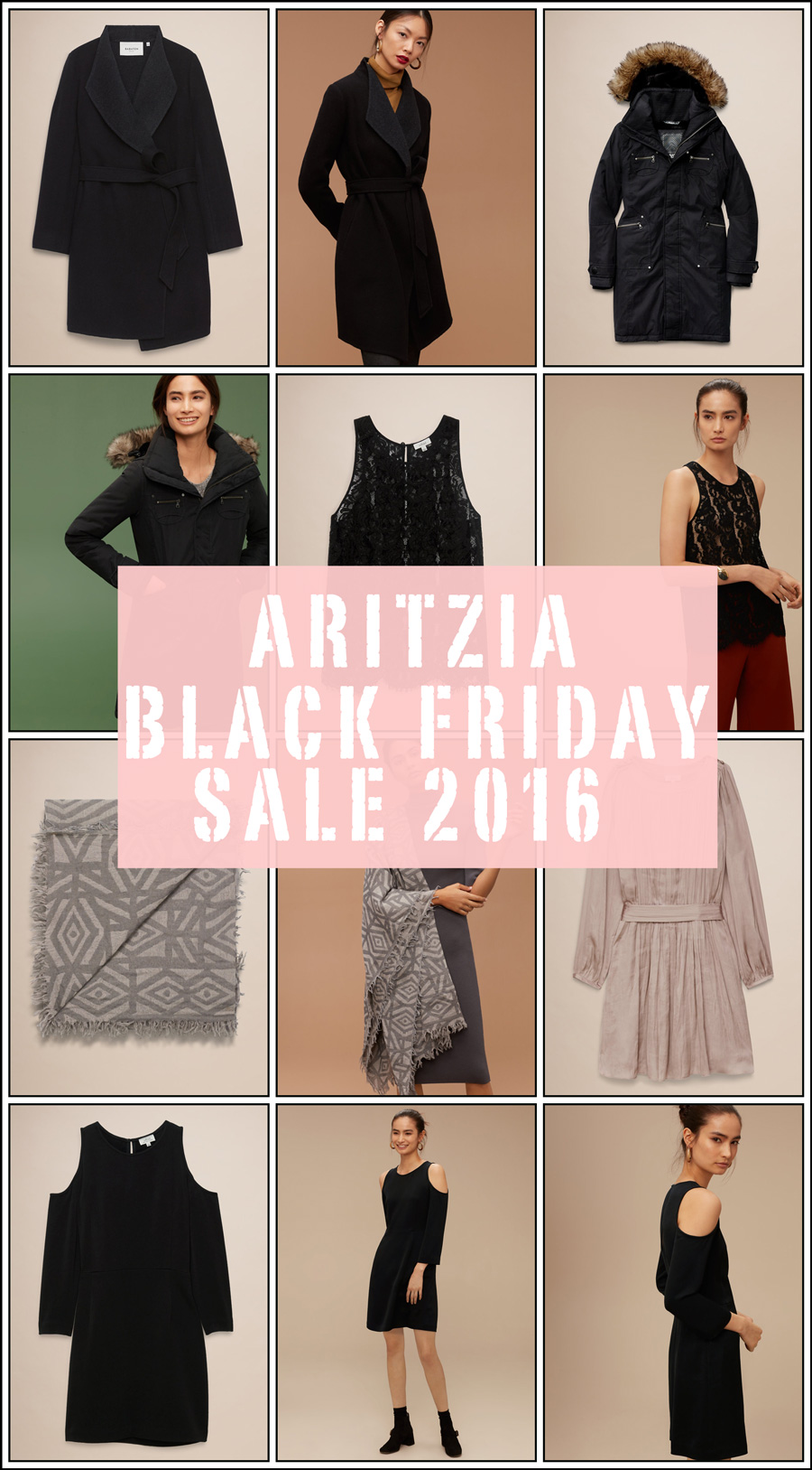 ARITZIA BLACK FRIDAY SALE 2016