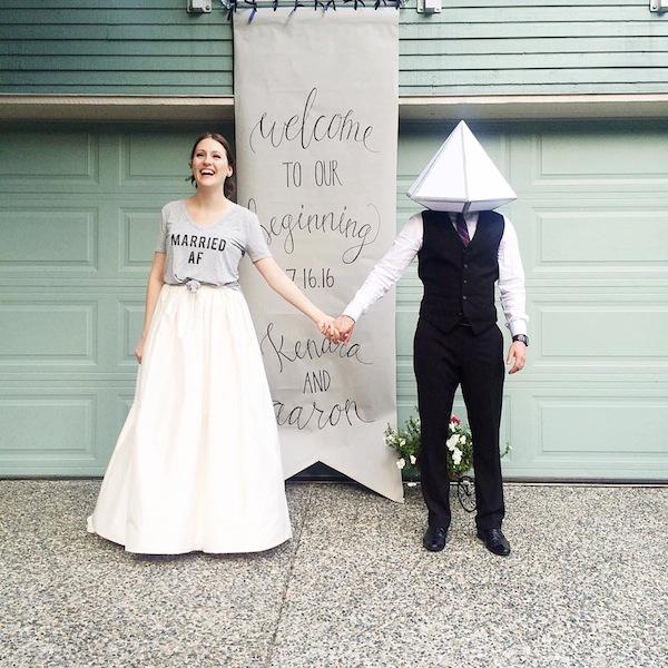 Married AF wedding photo.