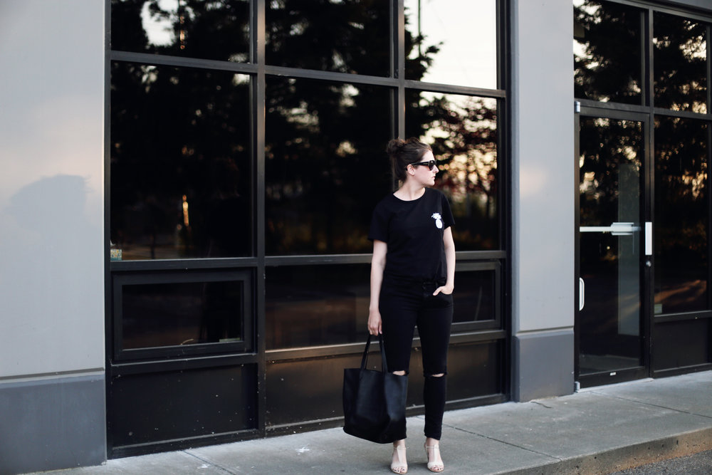 All black everything: an all black outfit with everyday basics.