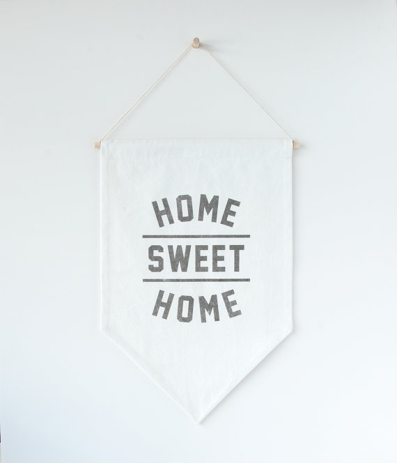 Home sweet home minimalist banner.