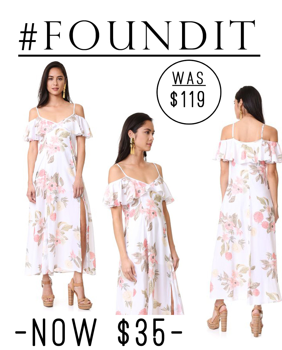 Love this gorgeous floral dress..oh and it's on sale for 70% off! I could see myself wearing this to a wedding or a summer party. So feminine and cute!