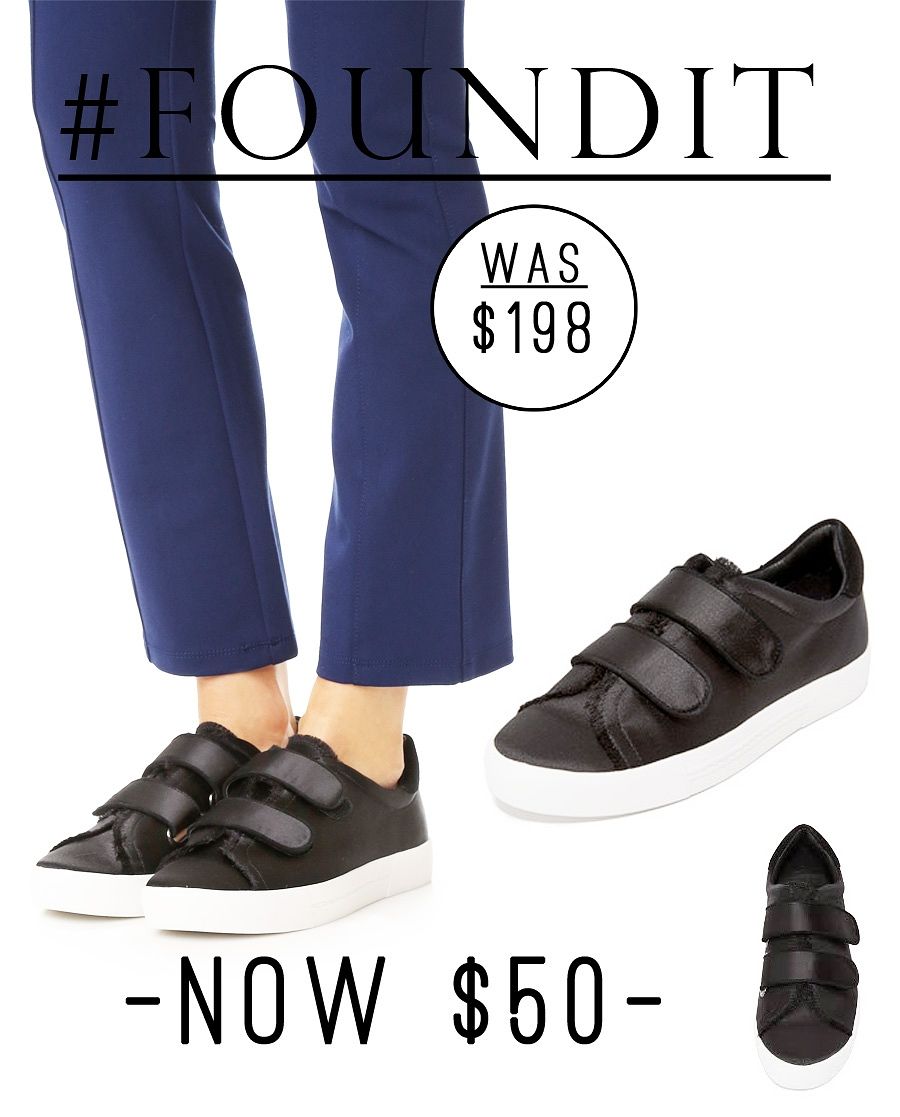 These Joie slip on sneakers are currently 75% off! Originally $198, they are now just $50. #sale