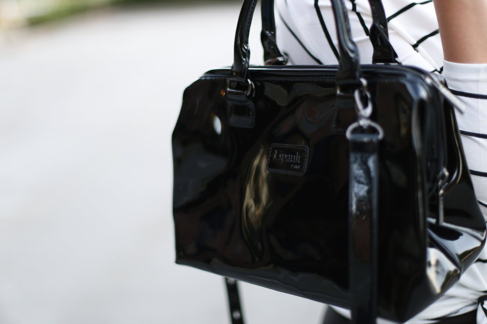 Patent Leather Bag: Lipault Paris purse review.