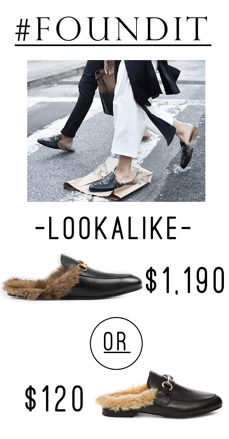 I love the Gucci Princetown fur loafer, but they are so expensive! This look-alike is just $120 and is so similar! #sale #shoes #minimalist