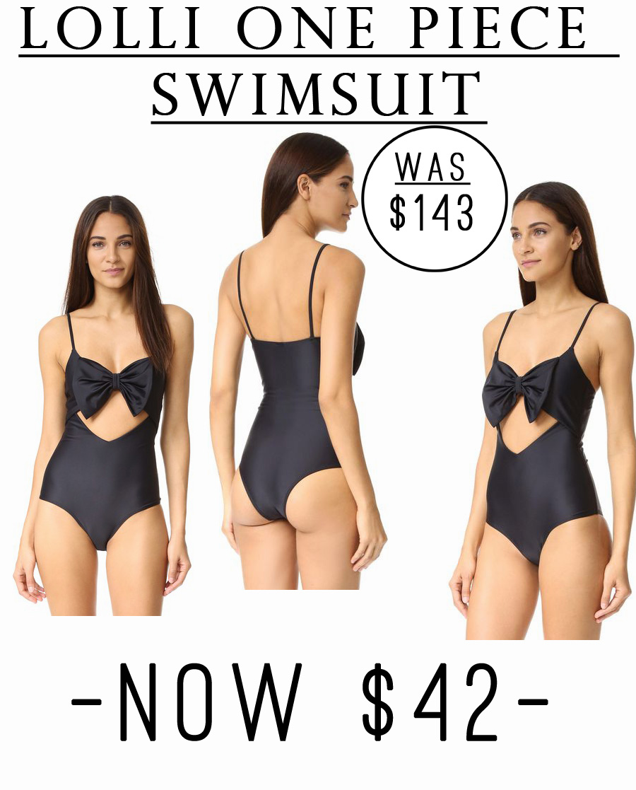 This one piece swimsuit is currently 70% off! Originally $143, now it's just $42. #sale #beach