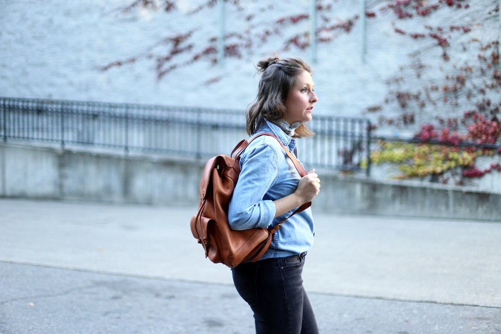 Back to school chic! Now this is a backpack I can get behind: Madewell The Transport Rucksack.