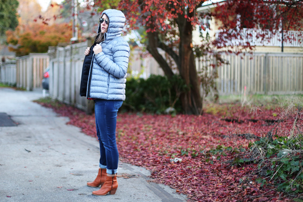 A down jacket that is actually stylish! Love this warm winter look.