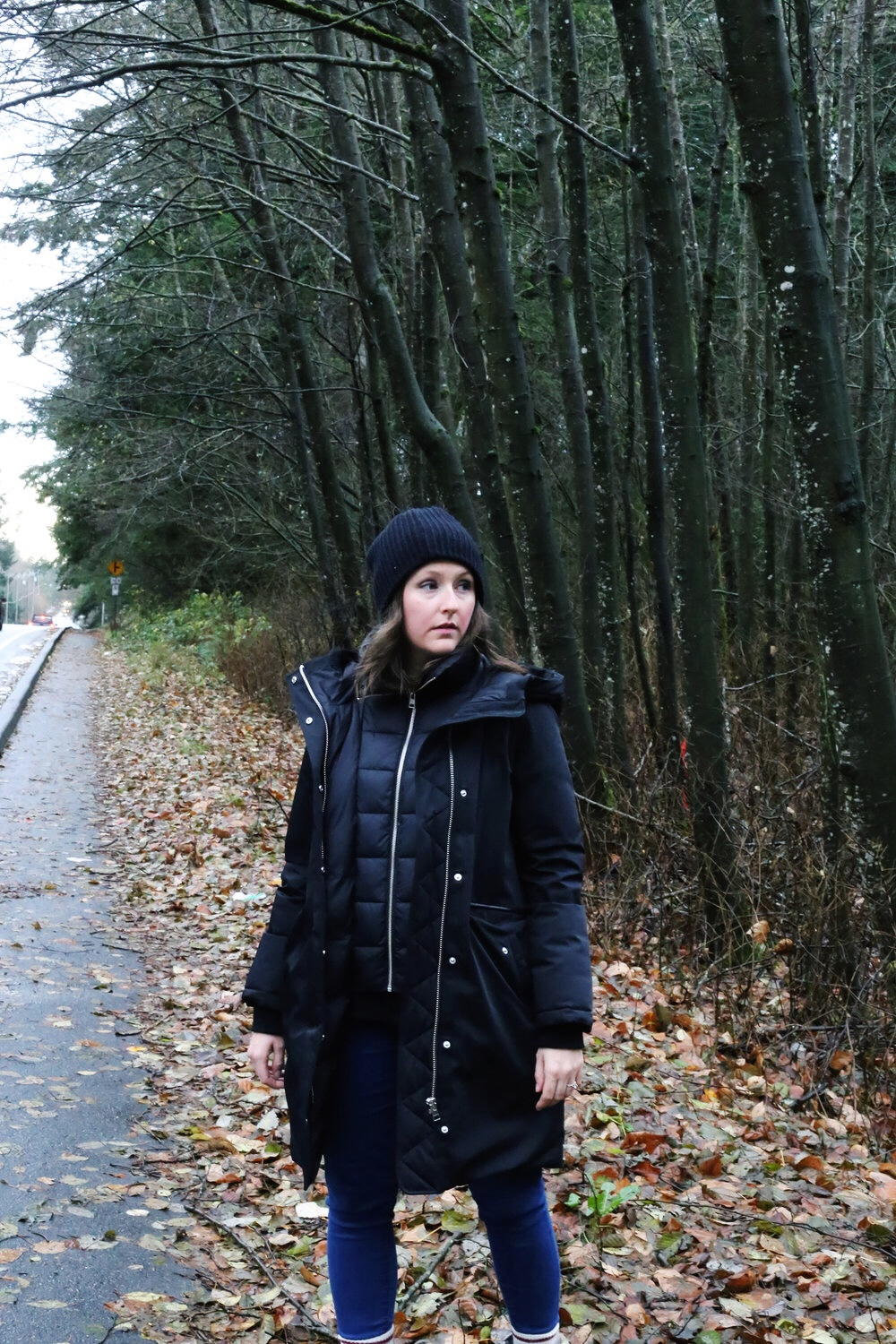 The warmest (and stylish) black parka.