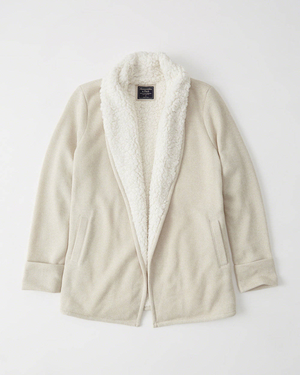 Sherpa Lined Cardigan .