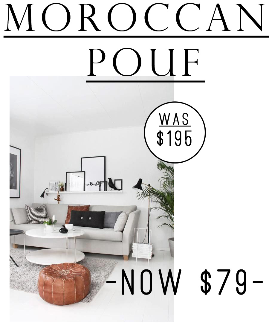 OMG! This Moroccan Pouf is currently just $79! I've always wanted a leather pouf <3