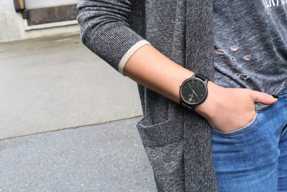 *** INTERNATIONAL CONTEST ALERT *** I'm giving away $100 towards a new Jord watch. This minimalist matte black boyfriend watch is like nothing else. The best part? It's made out of WOOD.