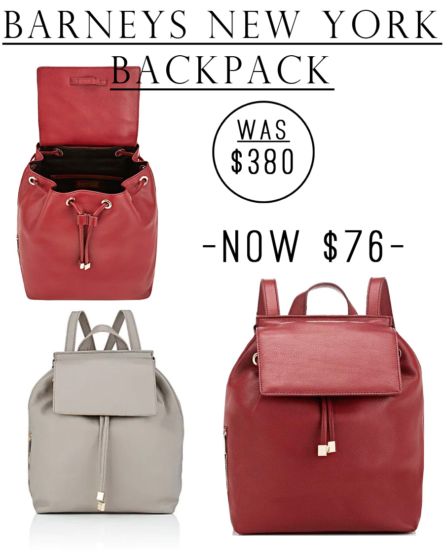 Barney's New York Leather Backpack