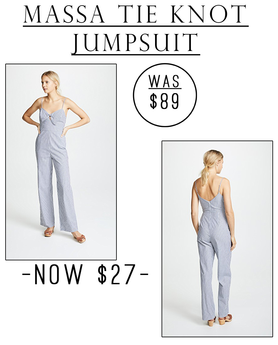 This Massa Tie Knot Jumpsuit is just $27!