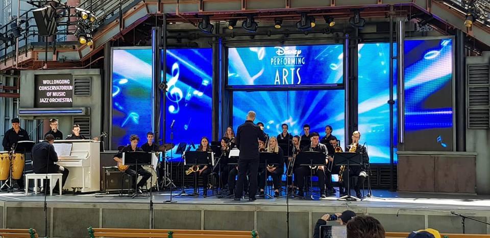 Jazz Orch at Disneyland Stage.JPG