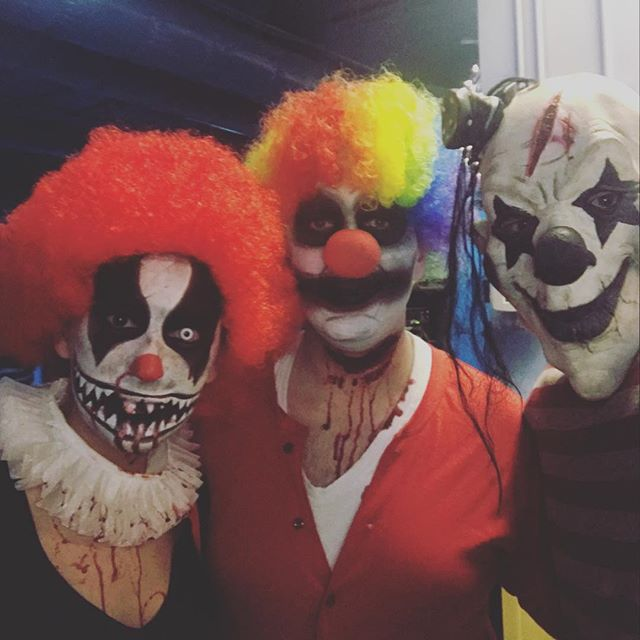 Happy Halloween! Come down to the Fear Factory Haunted House. Great way to celebrate Halloween. Warm, dry, and indoor line .