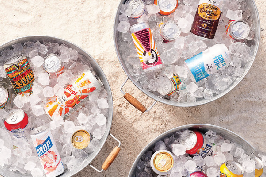 COASTAL LIVING  7 Best Canned Drinks for Your Beach Cooler