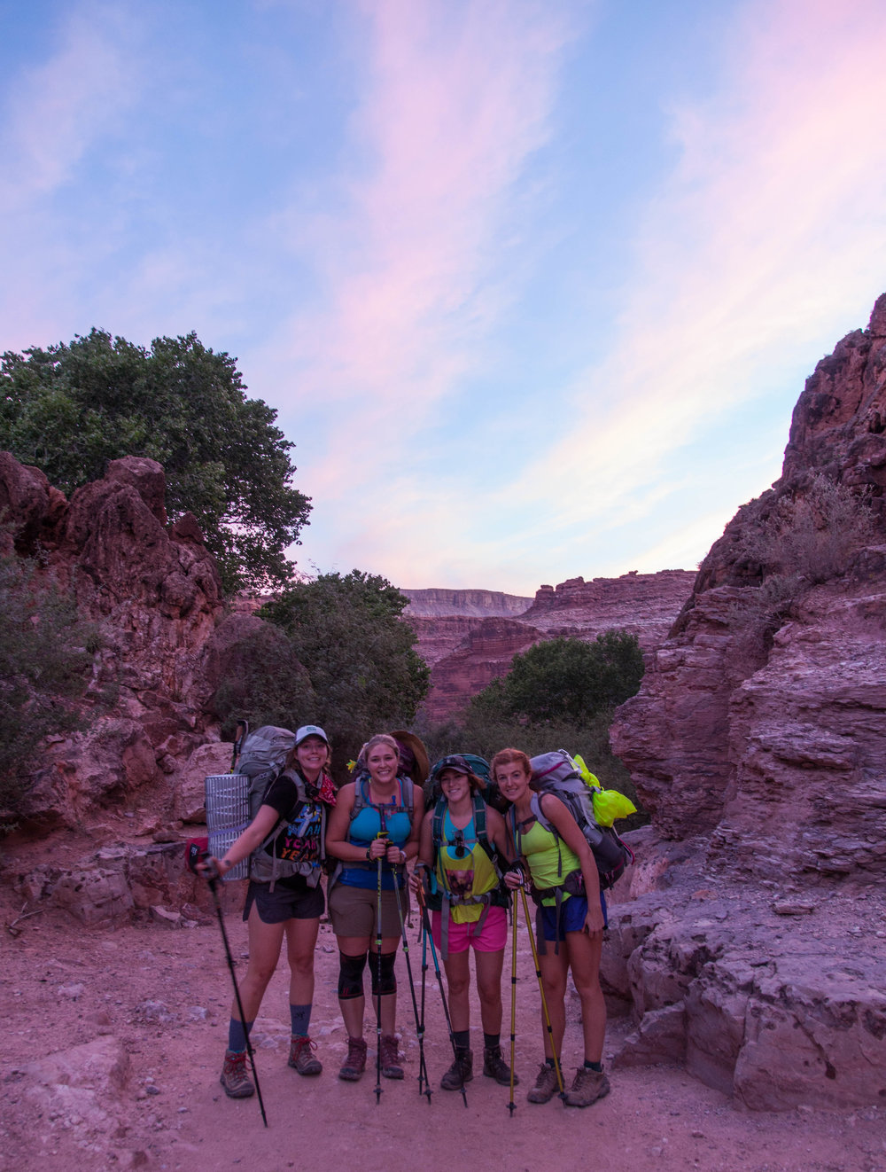 Right outside the village of Supai on our hike out.