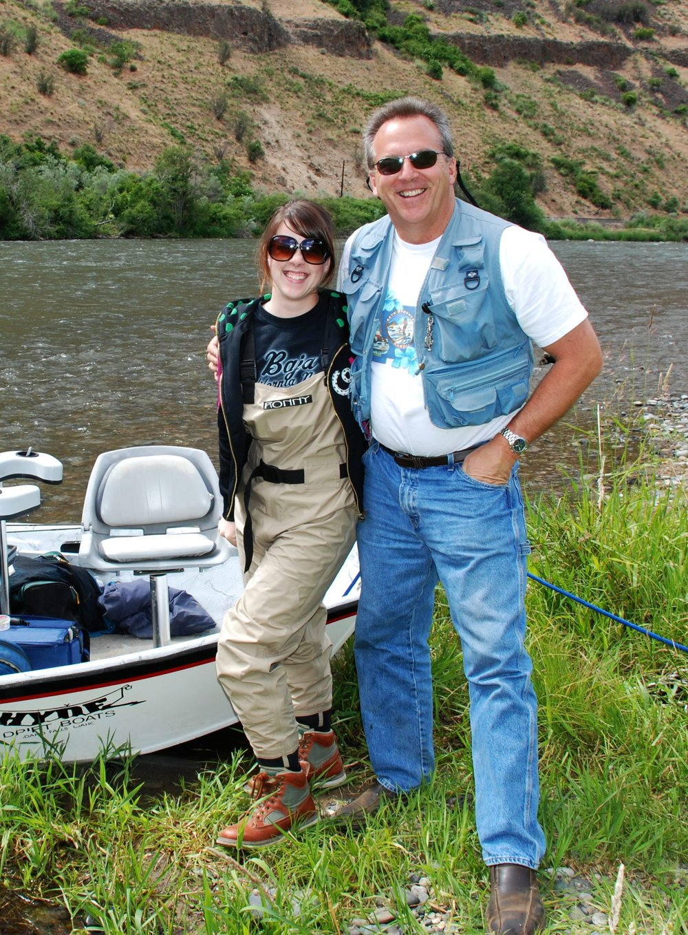 My dad and I on the Yakima River. Photo by my Uncle Scott Butner