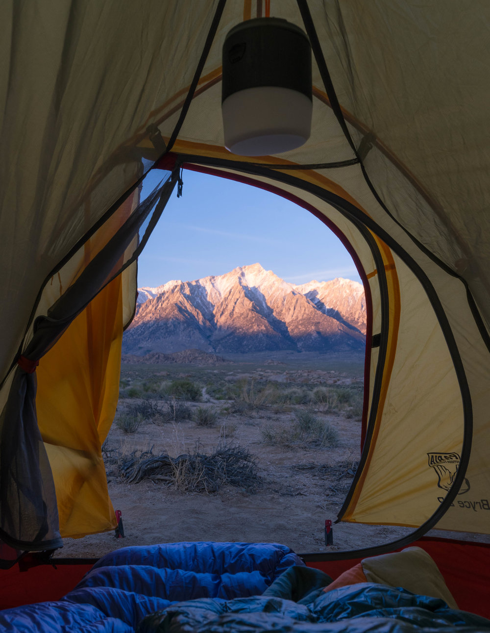 Sunrise view from the tent