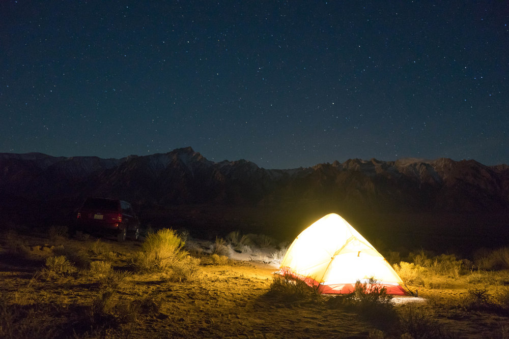 Our campsite under the stars.