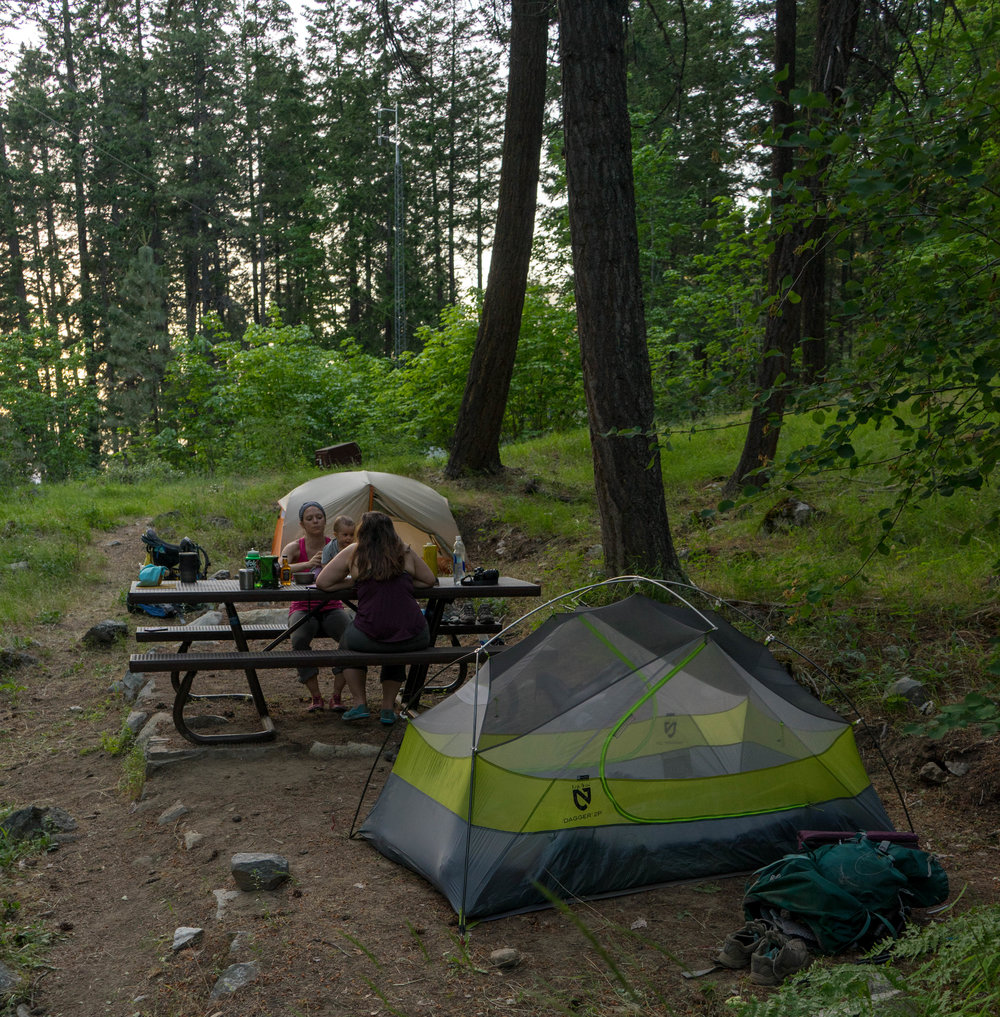 Lakeview Camp in Stehekin, you need a backcountry permit from North Cascade National Park in order to camp here!