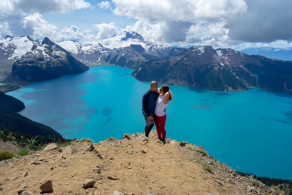 Brian and I at the top of Panorama Ridge.