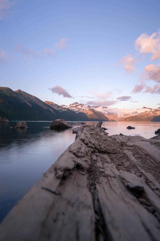 Sunset at Garibaldi Lake.