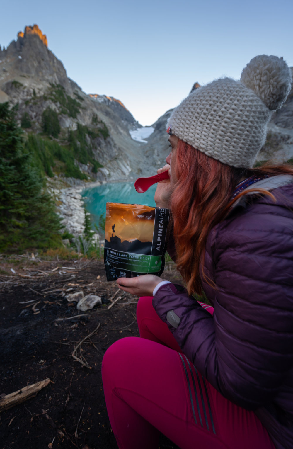 Backpacking food that nourishes you, and keeps your stomach from exploding = a win-win.