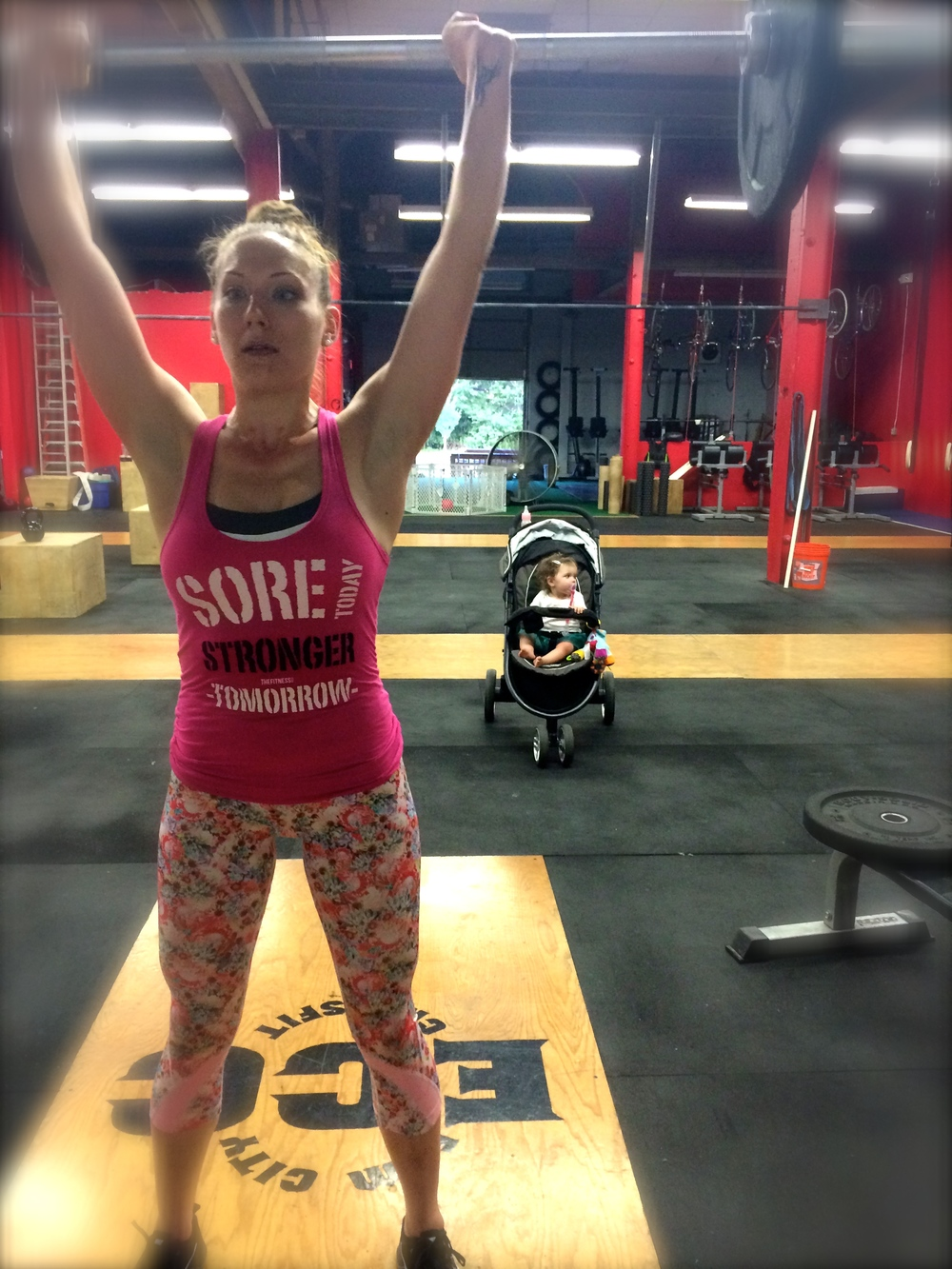Its a family affair here at Elm City CrossFit ~ Even Maddie agrees!