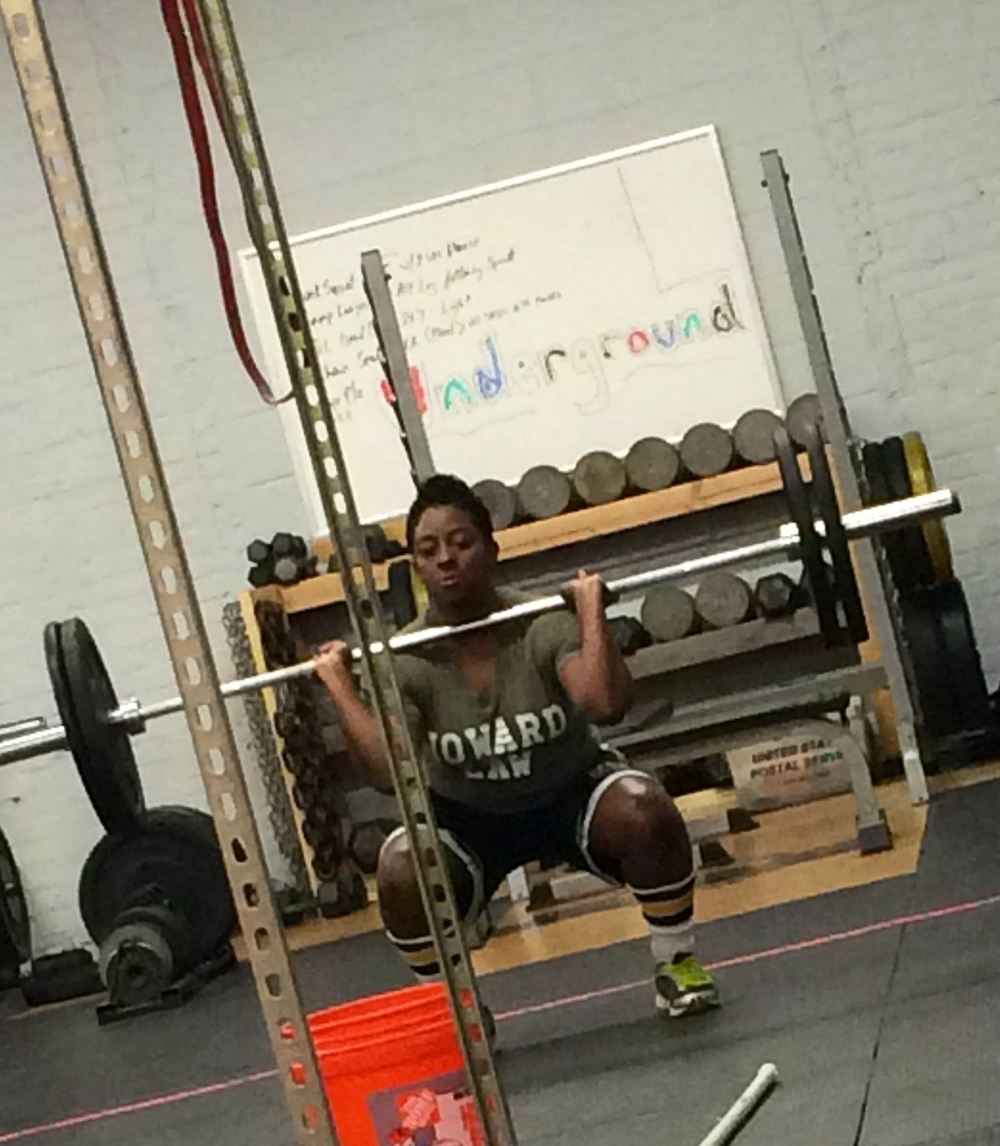 Funmi getting her squat clean on!