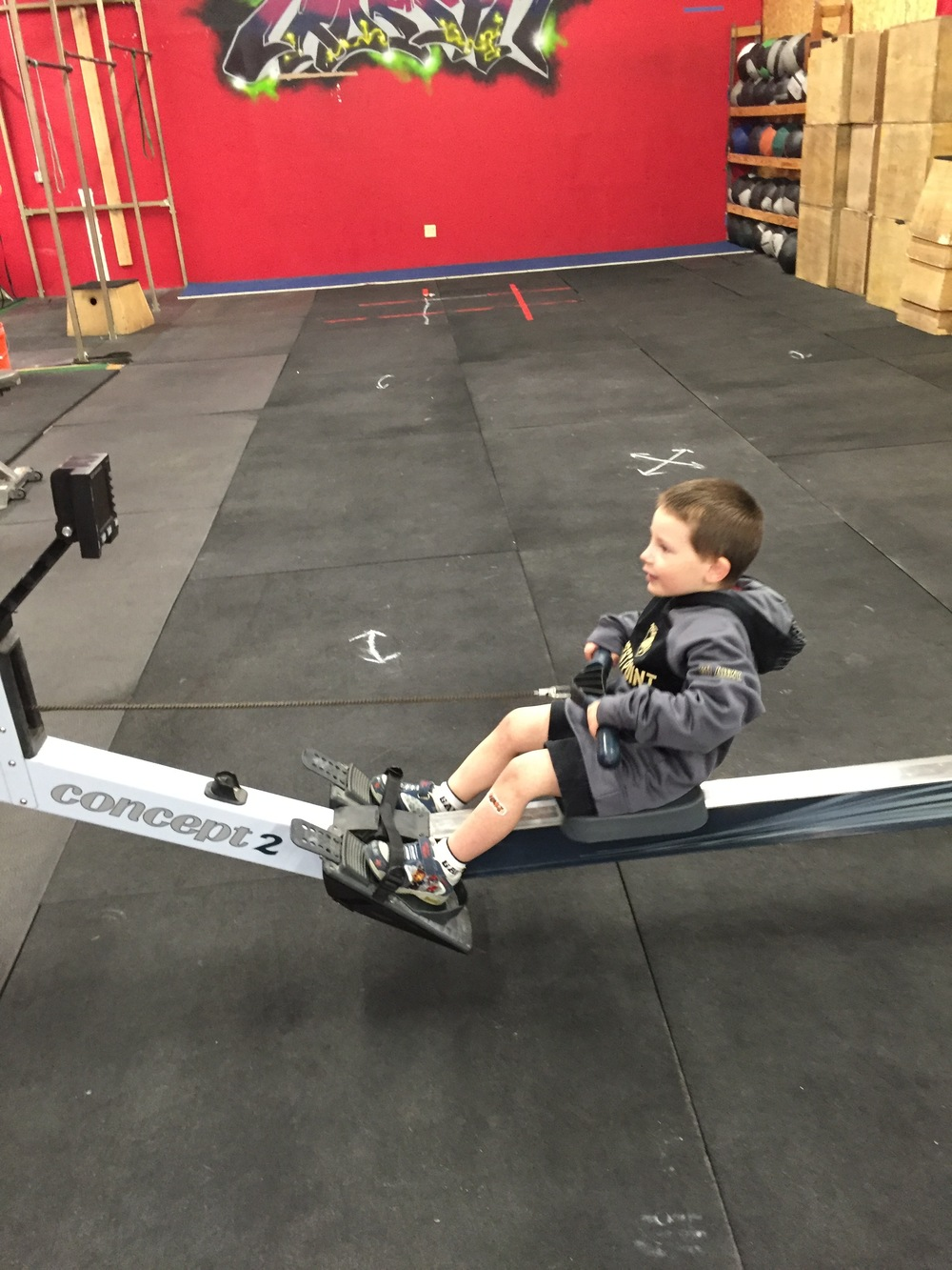 We start them early at Elm Ctiy CrossFit ~ Go Noah!