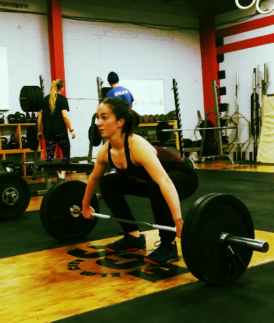 Claire with a nice setup for the snatch
